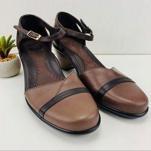 Dansko Roxy Leather Ankle Strap Buckle Pump